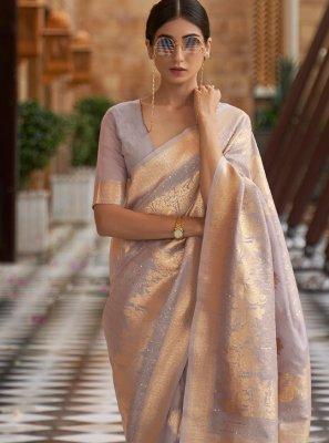 Blue Sequins Designer Traditional Saree