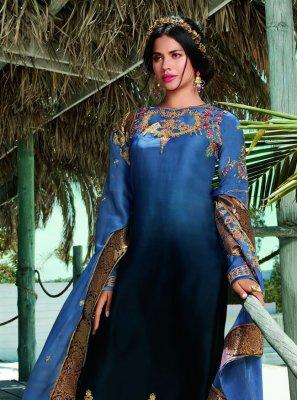 Blue Sequins Festival Designer Pakistani Salwar Suit