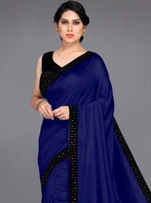 Blue Silk Casual Traditional Saree