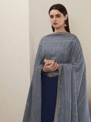 Blue Silk Designer Pakistani Suit
