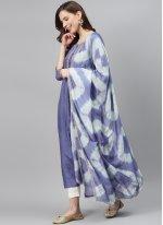 Lavender Silk Designer Palazzo Salwar Kameez
