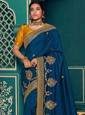 Blue Silk Festival Designer Traditional Saree