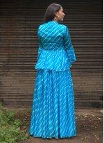 Blue Silk Readymade Suit