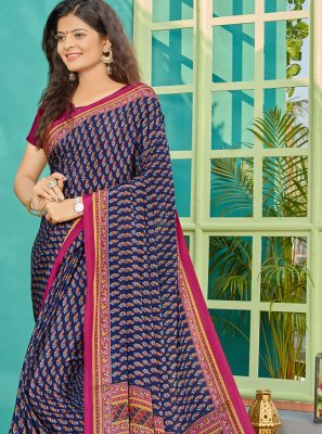 Blue Traditional Saree