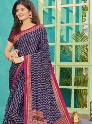 Blue Traditional Saree