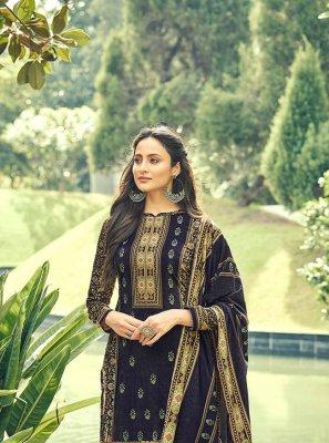 Blue Velvet Digital Print Designer Pakistani Salwar Suit
