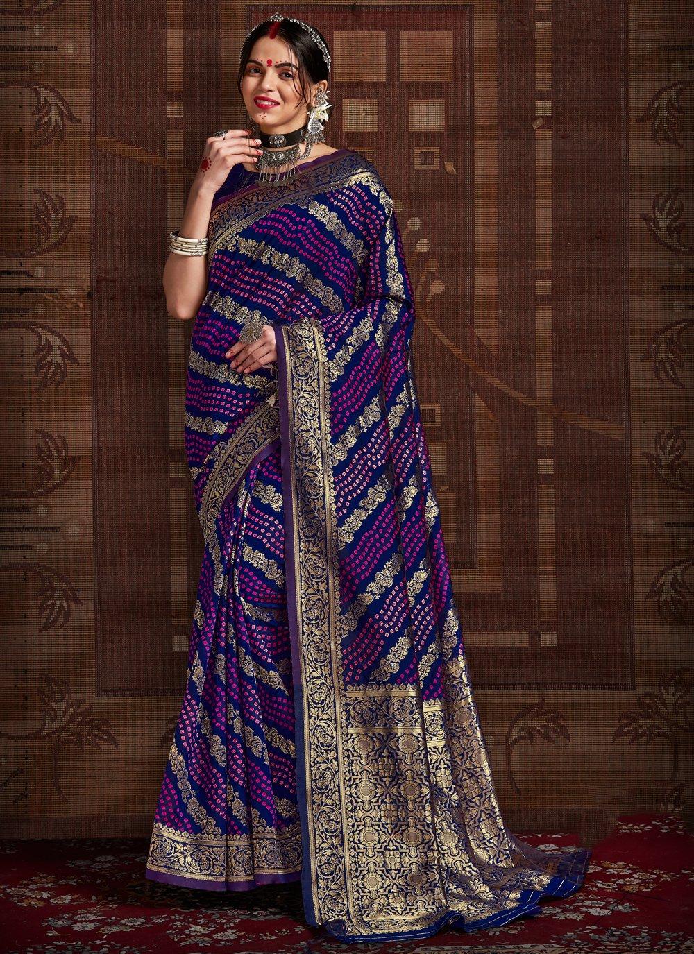 Blue Wedding Designer Traditional Saree