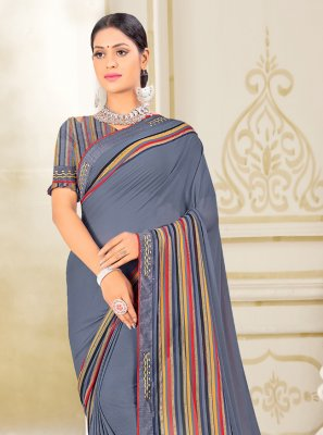 Blue Weight Less Fancy Classic Saree