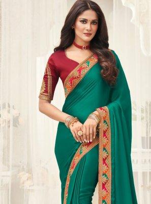 Border Green Classic Saree