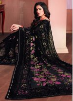 Brasso Printed Saree in Black