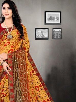 Brasso Printed Saree in Multi Colour
