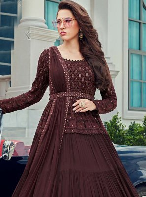 Brown Designer Salwar Kameez