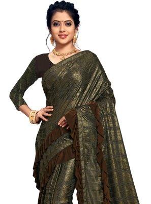 Brown Festival Classic Designer Saree