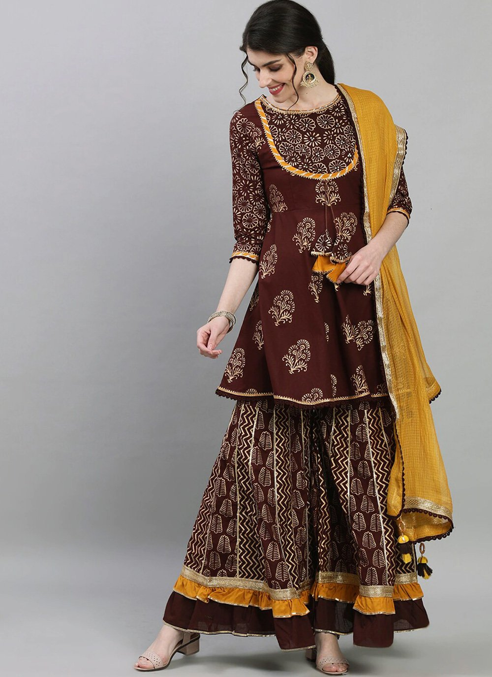 Brown Festival Readymade Suit