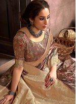 Brown Festival Traditional Designer Saree