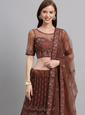 Brown Patch Border Lehenga Choli