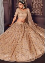 Brown Sequins A Line Lehenga Choli