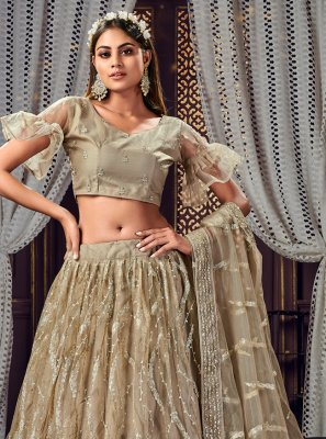 Brown Sequins Bollywood Lehenga Choli
