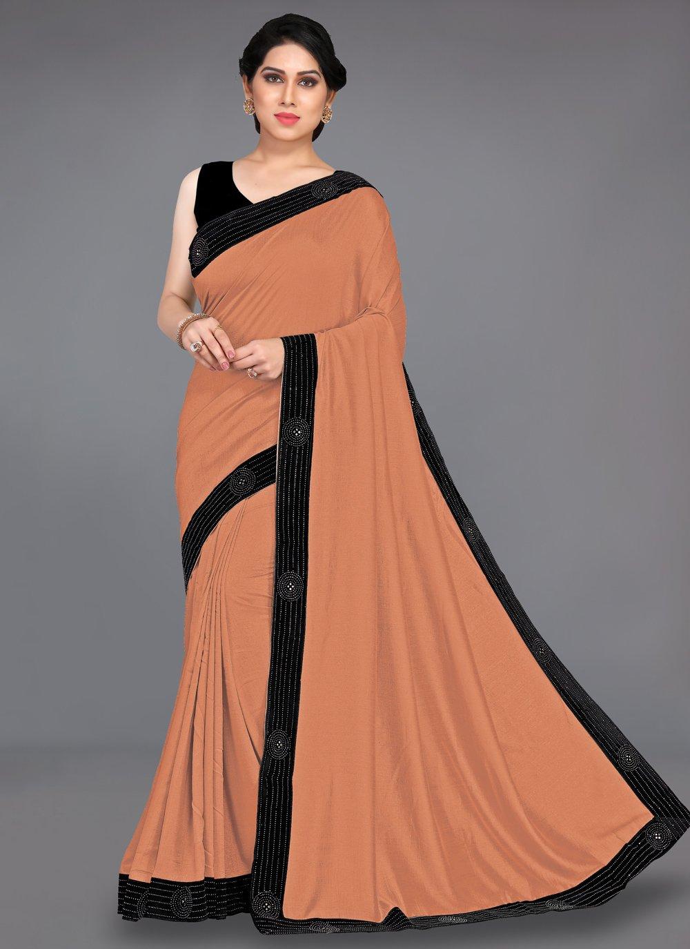 Brown Stone Traditional Designer Saree