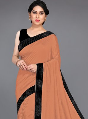 Brown Stone Traditional Designer Saree