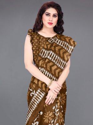 Brown Traditional Saree