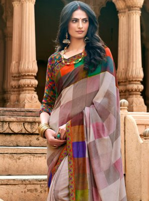 Chanderi Ceremonial Printed Saree