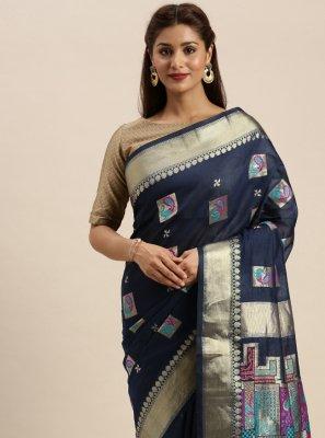 Chanderi Cotton Ceremonial Classic Designer Saree