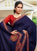 Chanderi Designer Traditional Saree in Blue