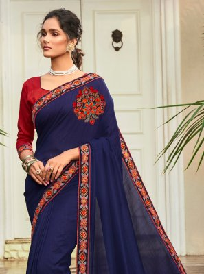 Chanderi Designer Traditional Saree in Blue
