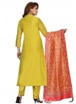 Chanderi Fancy Readymade Suit
