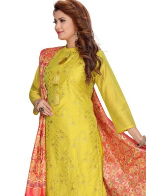 Chanderi Fancy Readymade Suit