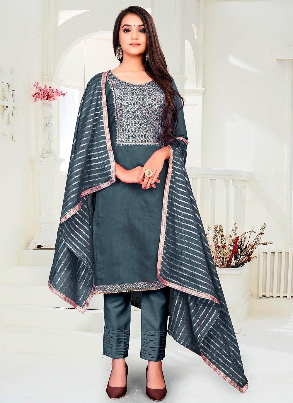 Chanderi Festival Pant Style Suit