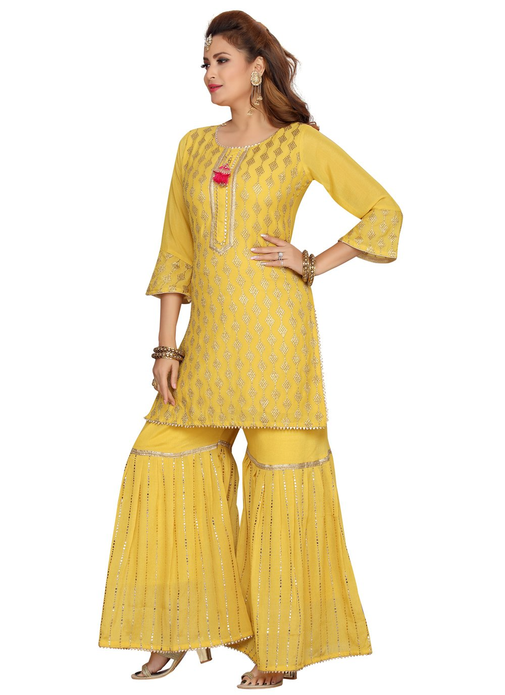 Chanderi Festival Party Wear Kurti