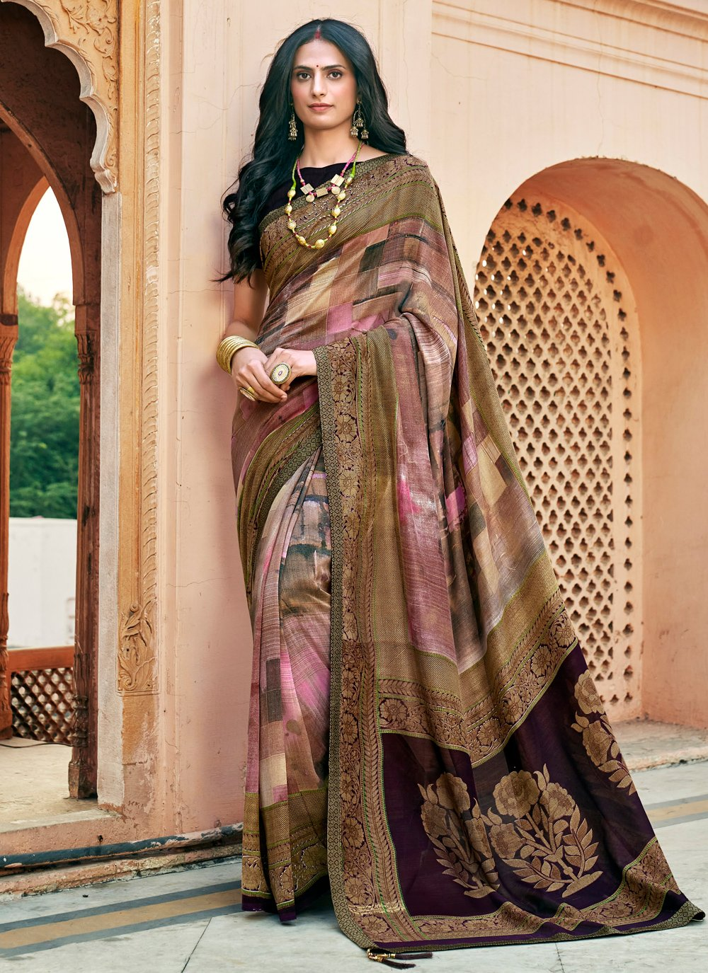 Chanderi Festival Printed Saree