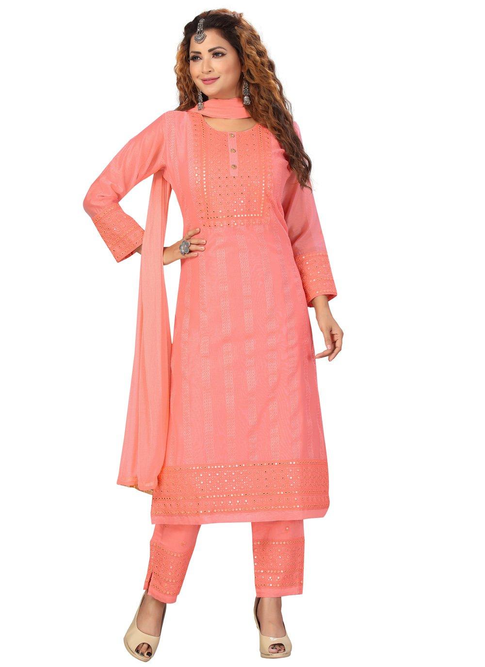 Chanderi Festival Readymade Suit