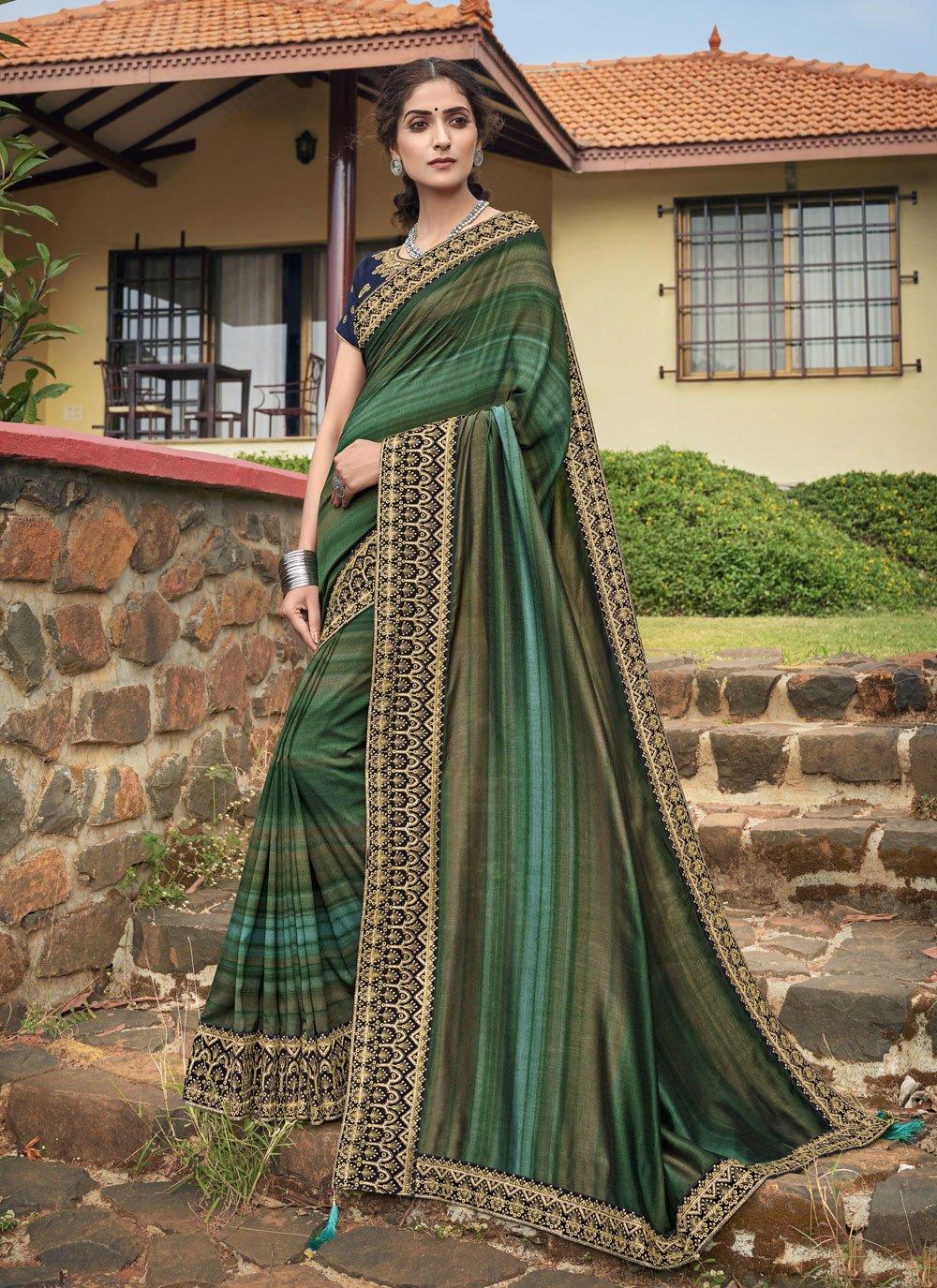 Chanderi Multi Colour Classic Designer Saree