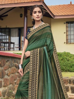 Chanderi Multi Colour Classic Designer Saree
