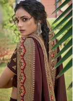 Chanderi Multi Colour Print Traditional Saree