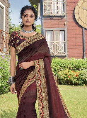 Chanderi Multi Colour Print Traditional Saree