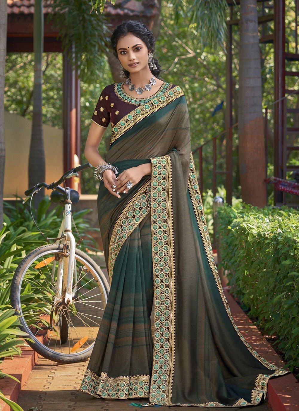 Chanderi Print Classic Saree