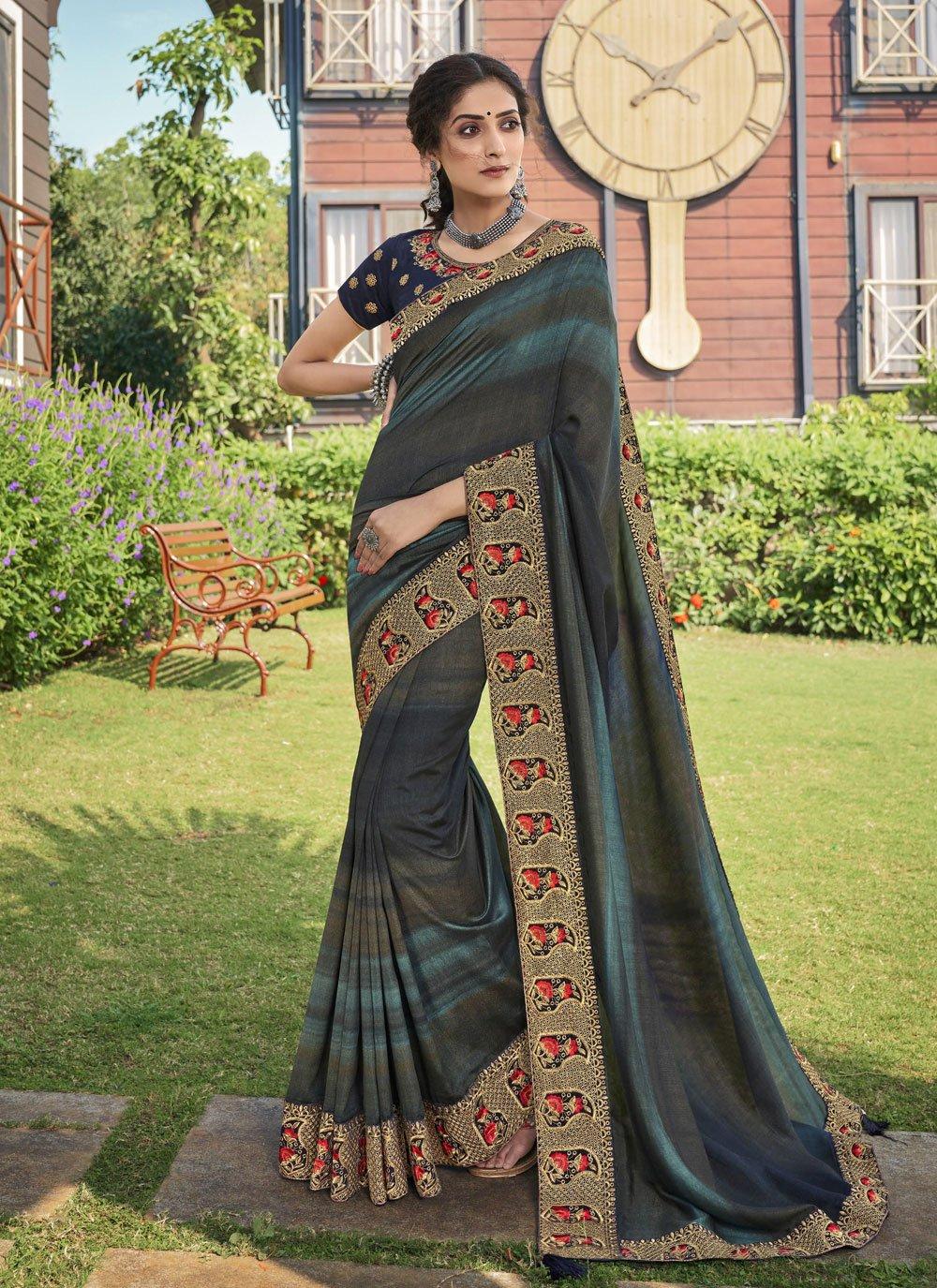 Chanderi Print Trendy Saree in Multi Colour