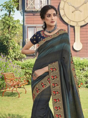 Chanderi Print Trendy Saree in Multi Colour