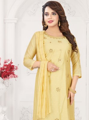Chanderi Trendy Churidar Suit