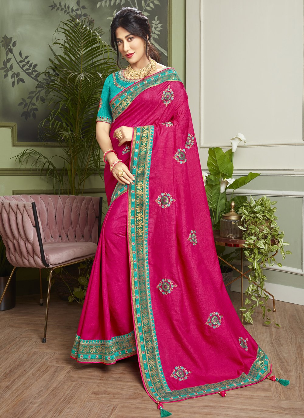 Chitrangada Singh Fancy Fabric Rani Traditional Designer Saree