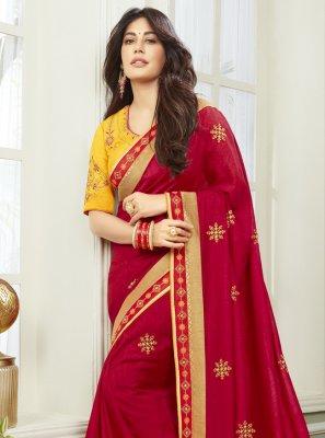 Chitrangada Singh Maroon Classic Designer Saree