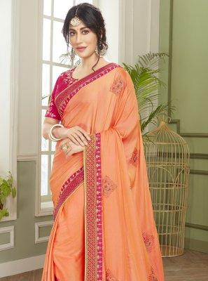 Chitrangada Singh Orange Engagement Classic Designer Saree