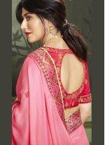 Chitrangada Singh Patch Border Pink Fancy Fabric Classic Designer Saree