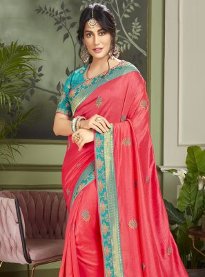 Chitrangada Singh Rose Pink Fancy Fabric Traditional Designer Saree