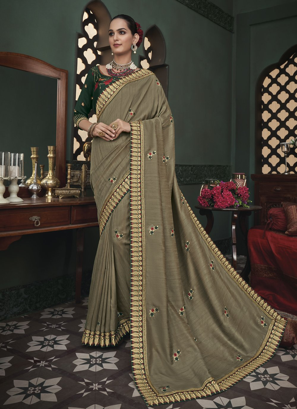 Classic Designer Saree For Ceremonial