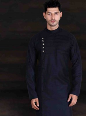 Cotton Black Kurta Pyjama